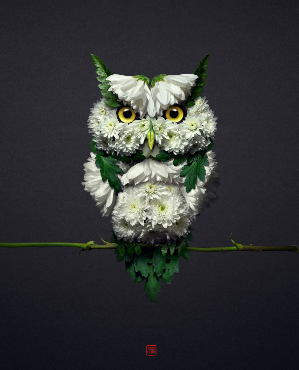 Petals And Stems Turned Into Animal Sculptures By Raku Inoue 1
