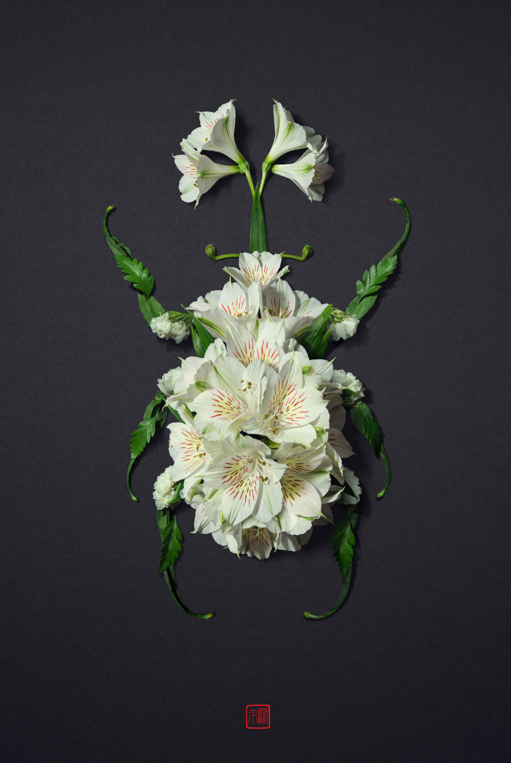 Petals And Stems Turned Into Animal Sculptures By Raku Inoue 2
