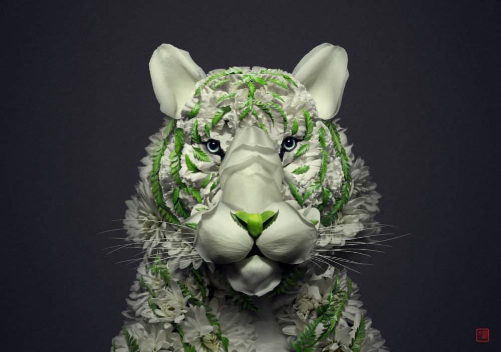 Petals And Stems Turned Into Animal Sculptures By Raku Inoue 3