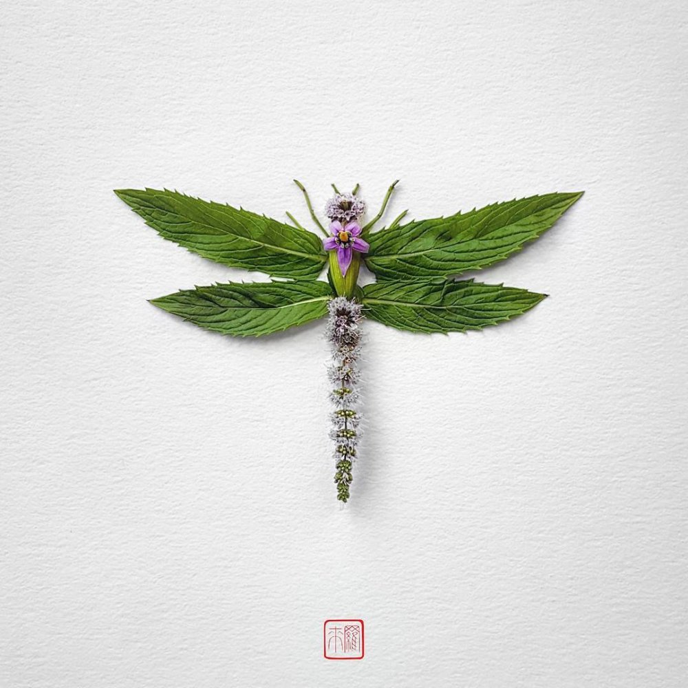 Petals And Stems Turned Into Animal Sculptures By Raku Inoue 8