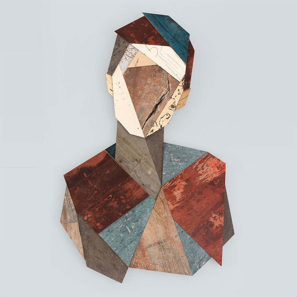 Strook Geometric Murals Of Figure Collages Made Of Old Doors And Pieces Of Furniture By Stefaan De Croock 5