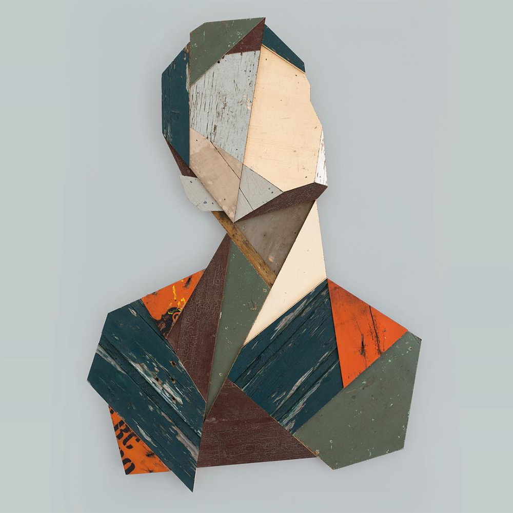 Strook Geometric Murals Of Figure Collages Made Of Old Doors And Pieces Of Furniture By Stefaan De Croock 6
