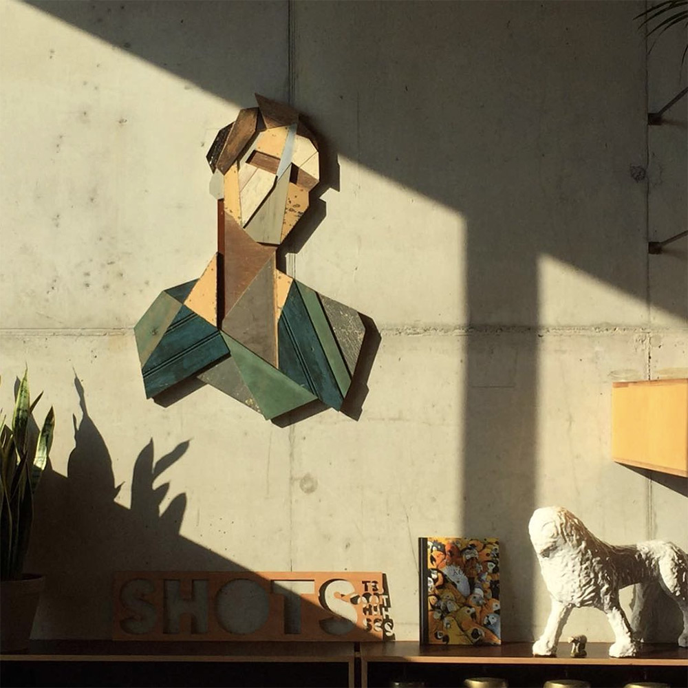 Strook Geometric Murals Of Figure Collages Made Of Old Doors And Pieces Of Furniture By Stefaan De Croock 8
