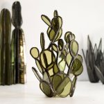 Succulent-based glass sculptures by Lesley Green