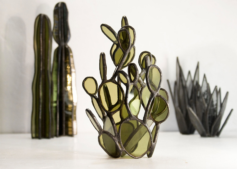 Succulent Based Glass Sculptures By Lesley Green 3