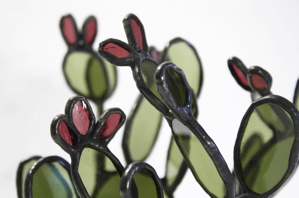 Succulent Based Glass Sculptures By Lesley Green 4