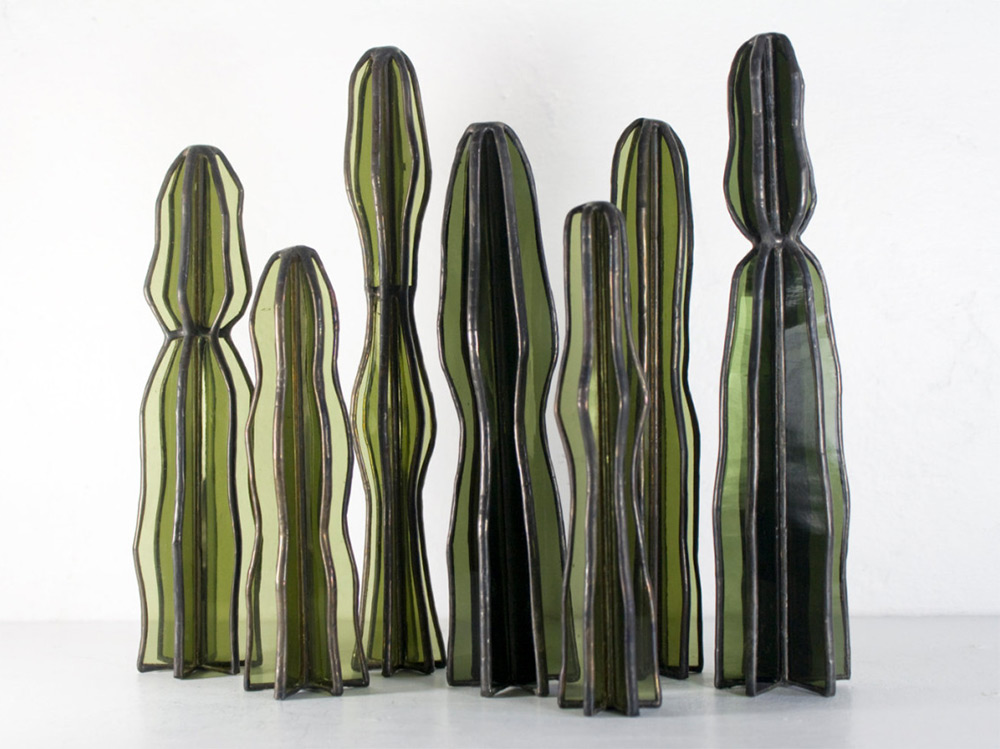 Succulent Based Glass Sculptures By Lesley Green 6