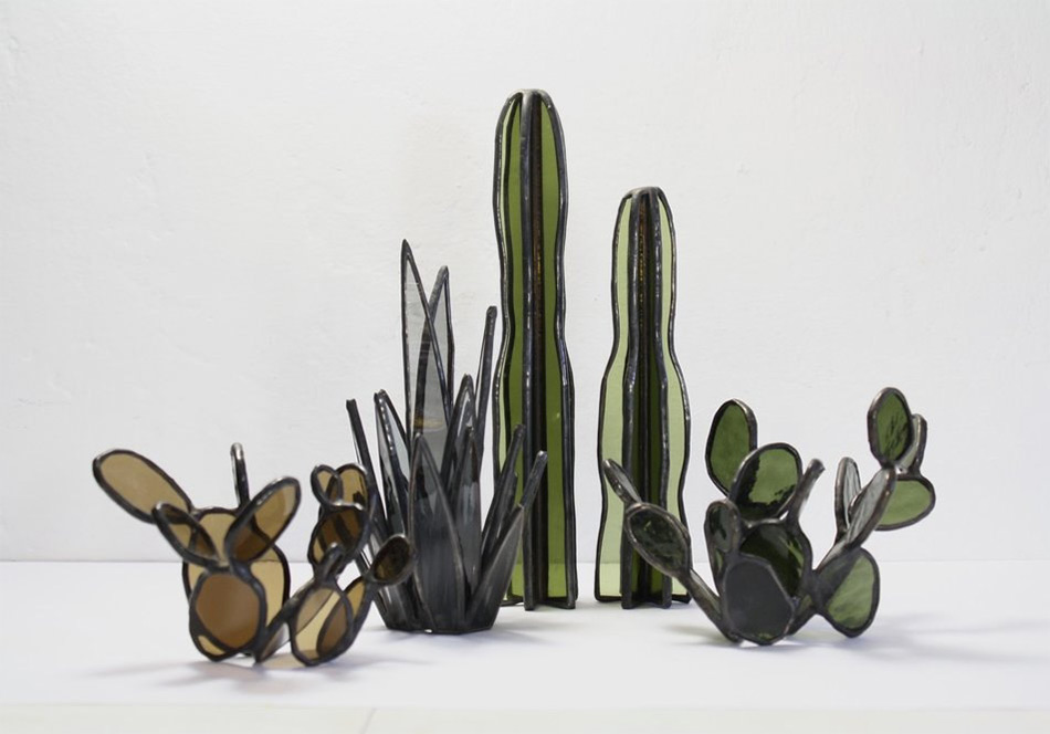Succulent Based Glass Sculptures By Lesley Green 7