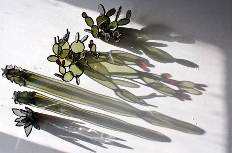 Succulent Based Glass Sculptures By Lesley Green 9
