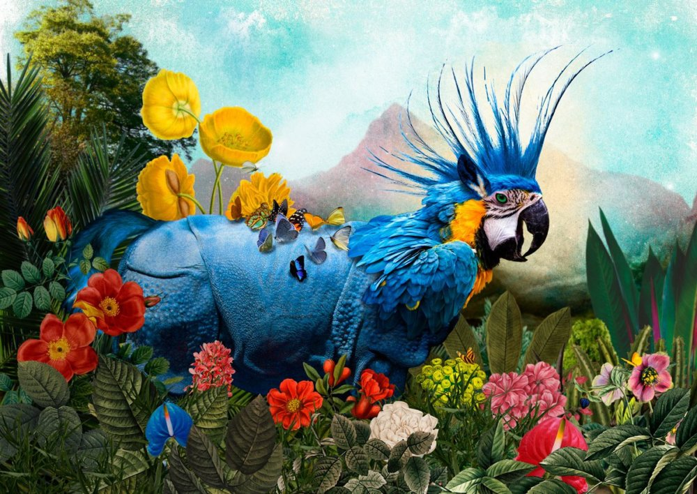 The Day I Visited Eden Gorgeous Collages Of Cross Breed Creatures By Andre Sanchez 10