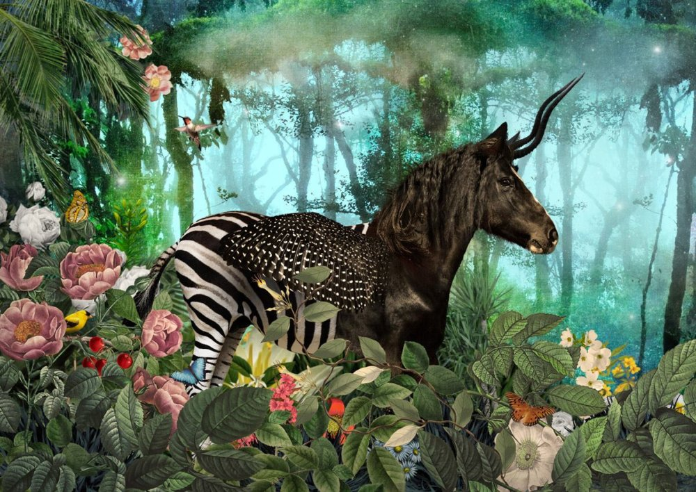 The Day I Visited Eden Gorgeous Collages Of Cross Breed Creatures By Andre Sanchez 2