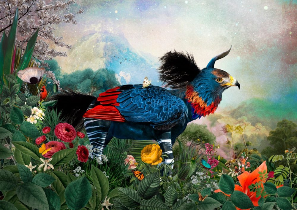 The Day I Visited Eden Gorgeous Collages Of Cross Breed Creatures By Andre Sanchez 3