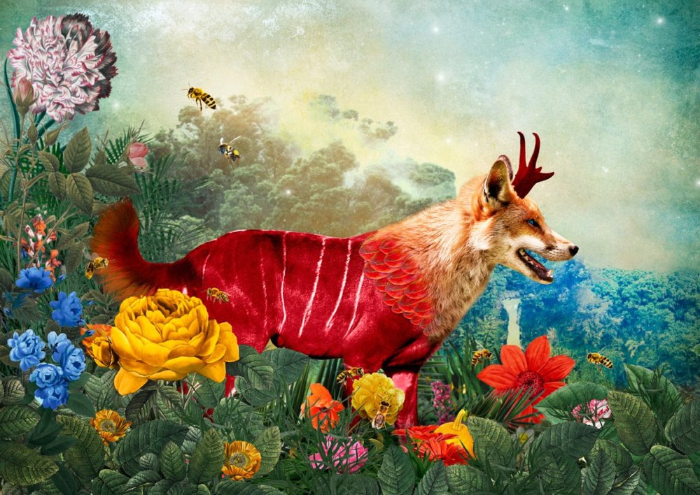 The Day I Visited Eden Gorgeous Collages Of Cross Breed Creatures By Andre Sanchez 6