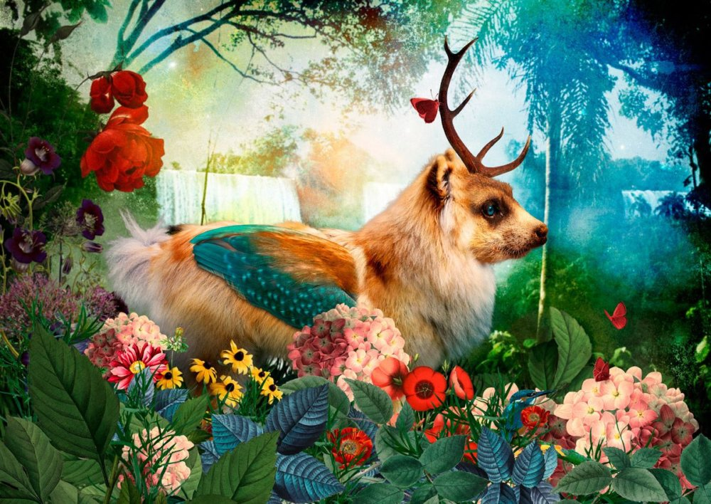 The Day I Visited Eden Gorgeous Collages Of Cross Breed Creatures By Andre Sanchez 8