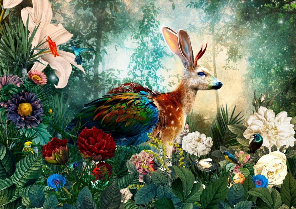 The Day I Visited Eden Gorgeous Collages Of Cross Breed Creatures By Andre Sanchez 9