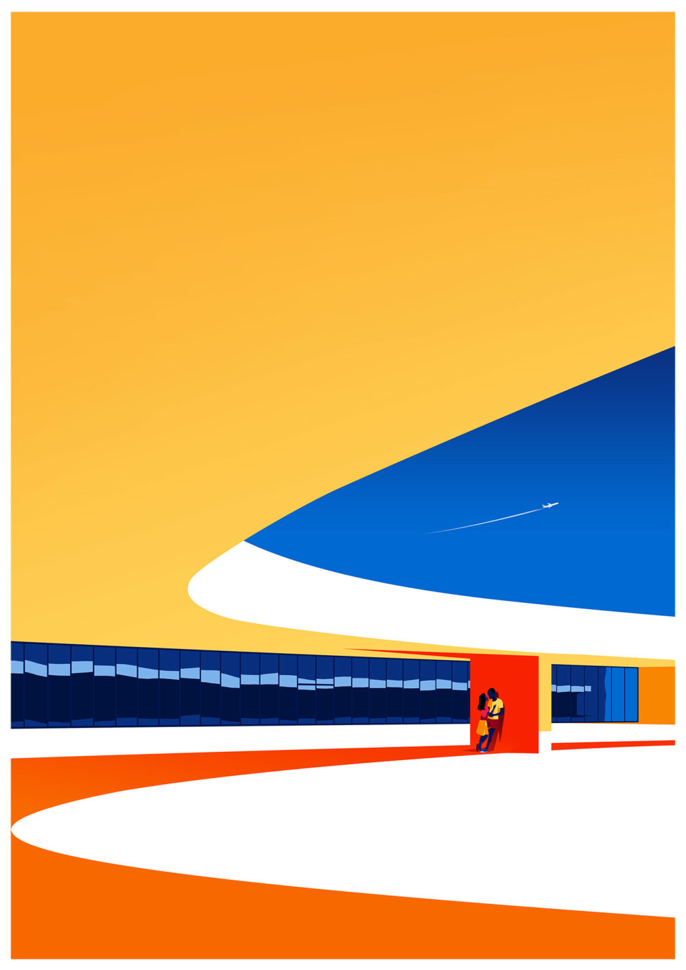 Utopia Architectural Illustration Series Featuring Oscar Niemeyers Design Lines By Levente Szabo 1