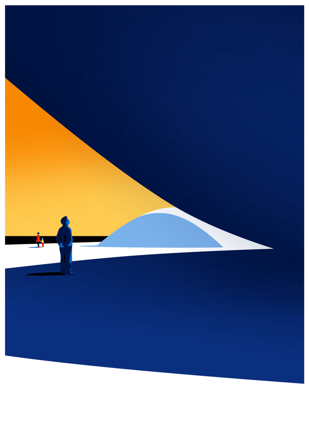 Utopia Architectural Illustration Series Featuring Oscar Niemeyers Design Lines By Levente Szabo 3