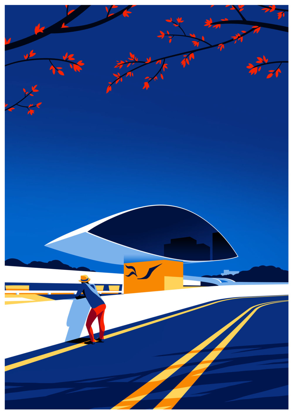 Utopia Architectural Illustration Series Featuring Oscar Niemeyers Design Lines By Levente Szabo 4