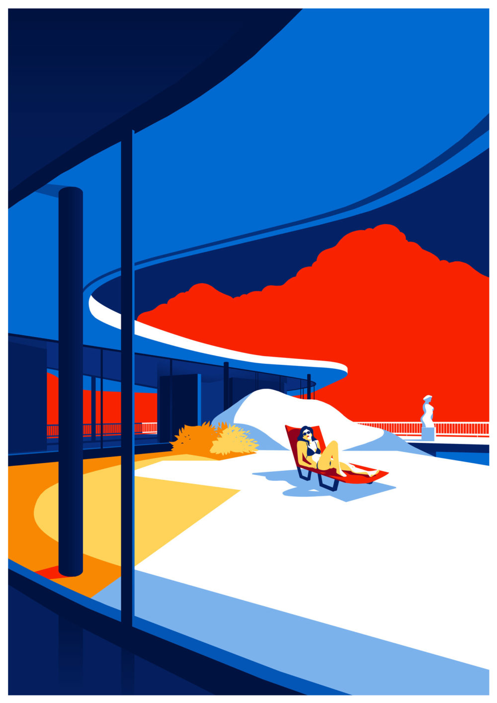 Utopia Architectural Illustration Series Featuring Oscar Niemeyers Design Lines By Levente Szabo 5