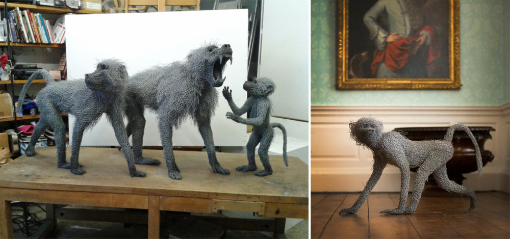 Animal Galvanized Wire Mesh Sculptures By Kendra Haste 6
