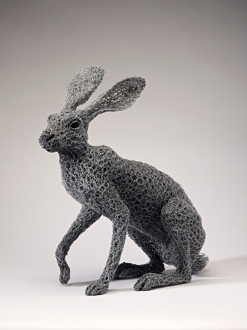 Animal Galvanized Wire Mesh Sculptures By Kendra Haste 7