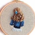 Beautiful hair embroidery art by Bernita Broderie