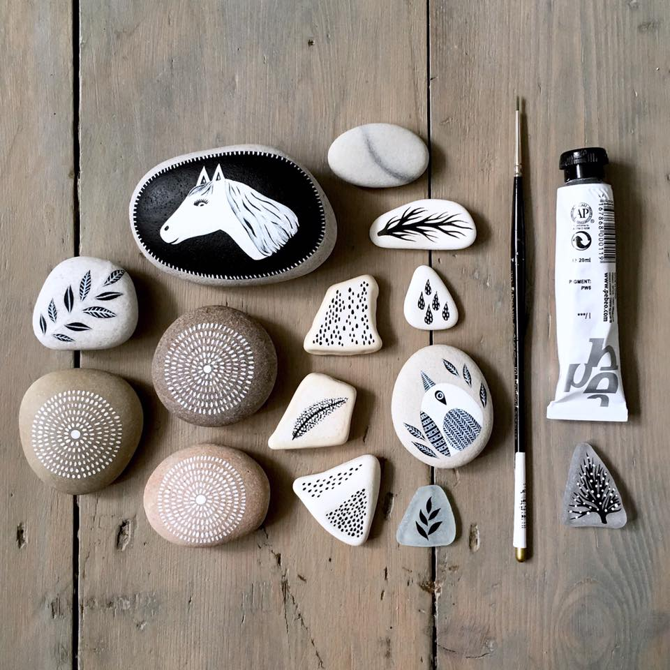 Beautifully Illustrated Beach Pebbles And Glass By Natasha Newton 10