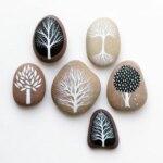 Beautifully illustrated beach pebbles and glass by Natasha Newton