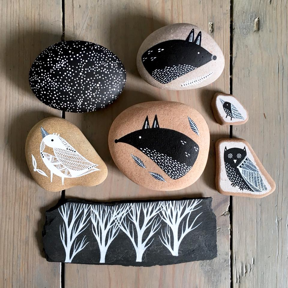 Beautifully Illustrated Beach Pebbles And Glass By Natasha Newton 2