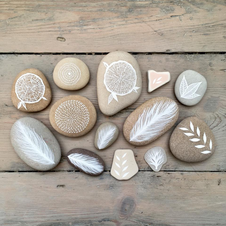 Beautifully Illustrated Beach Pebbles And Glass By Natasha Newton 4