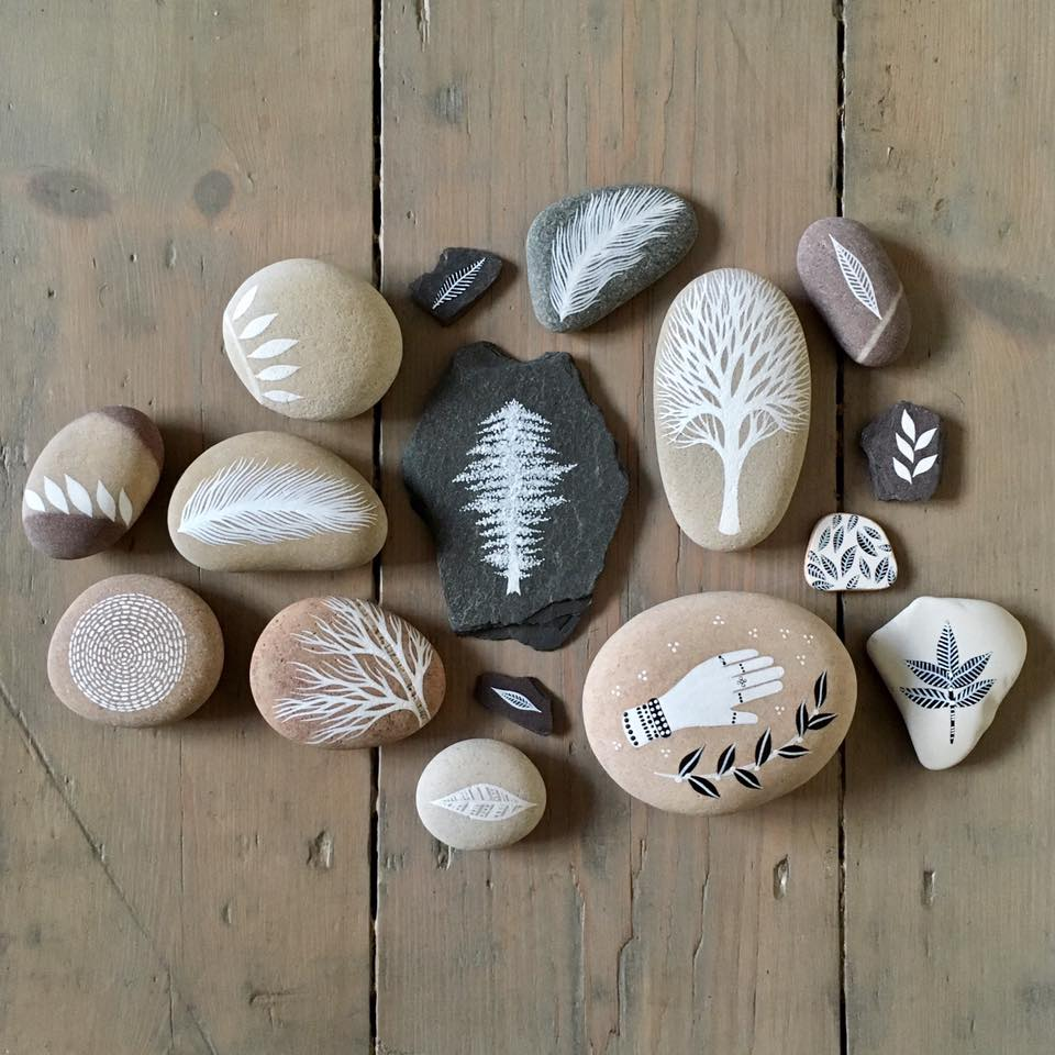 Beautifully Illustrated Beach Pebbles And Glass By Natasha Newton 7