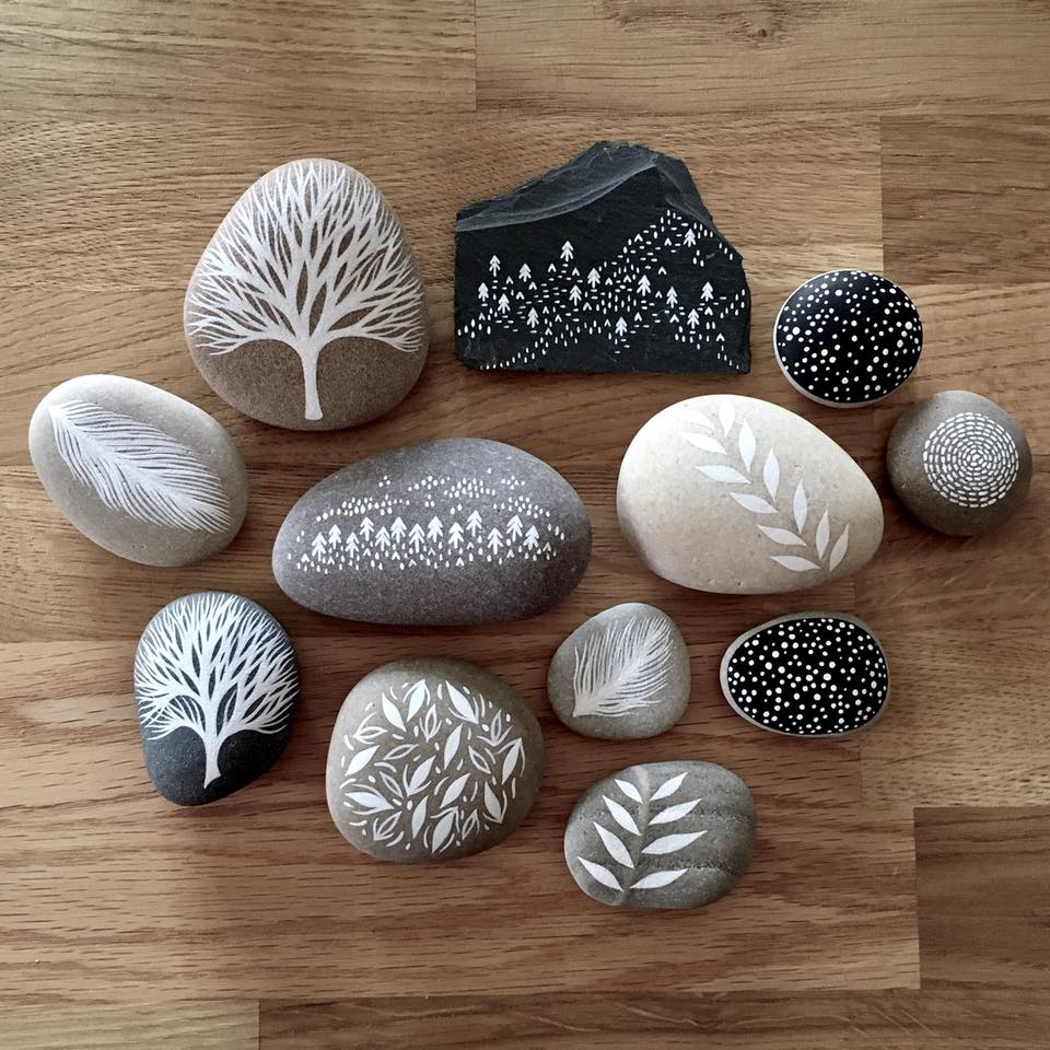 Beautifully Illustrated Beach Pebbles And Glass By Natasha Newton 8