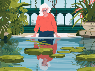 Delightful illustrations of everyday contemplation moments by Liza Rusalskaya