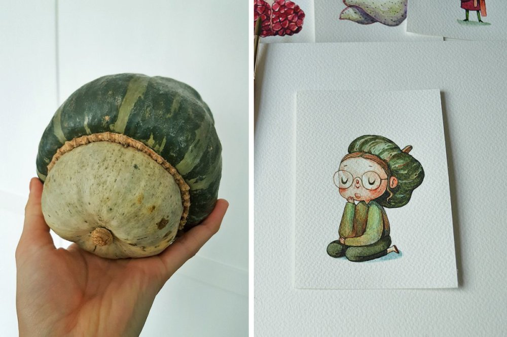 Fruits And Vegetables Turned Into Gorgeous Characters By Marija Tiurina 10
