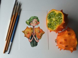 """Fruit as Characters"": Fruits and vegetables turned into gorgeous characters by Marija Tiurina"