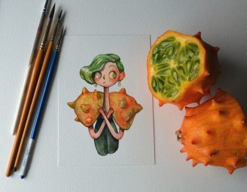 """""""Fruit as Characters"""": Fruits and vegetables turned into gorgeous characters by Marija Tiurina"""