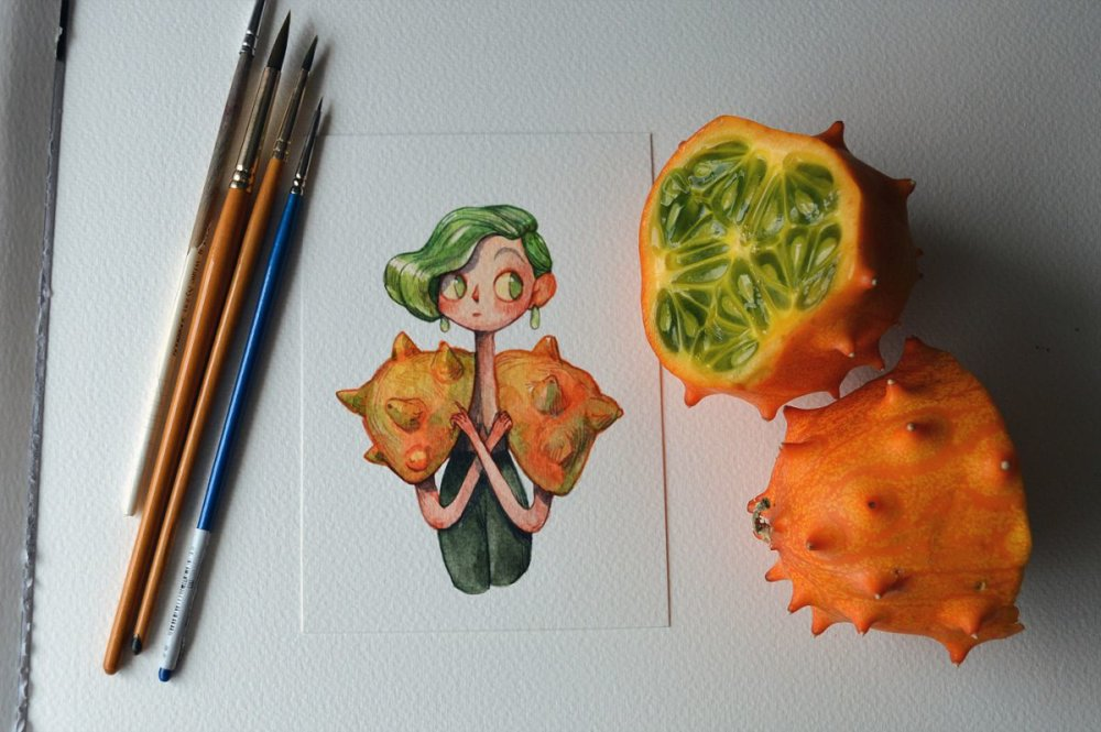 Fruits And Vegetables Turned Into Gorgeous Characters By Marija Tiurina 2