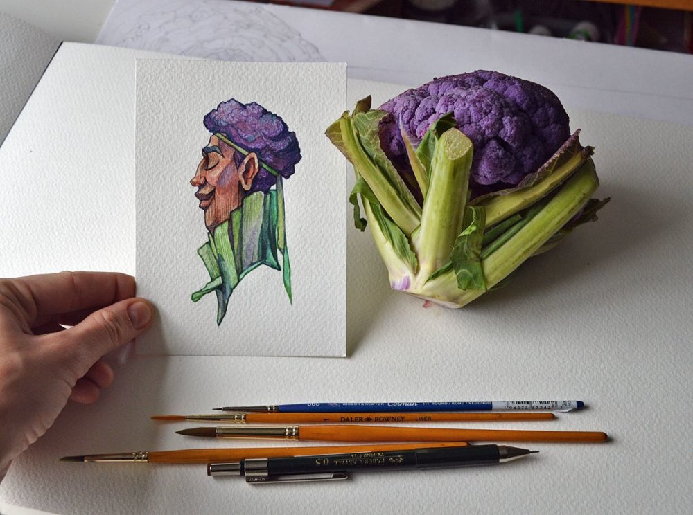 Fruits And Vegetables Turned Into Gorgeous Characters By Marija Tiurina 3