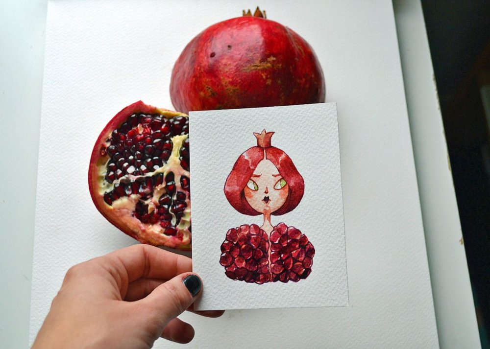 Fruits And Vegetables Turned Into Gorgeous Characters By Marija Tiurina 4