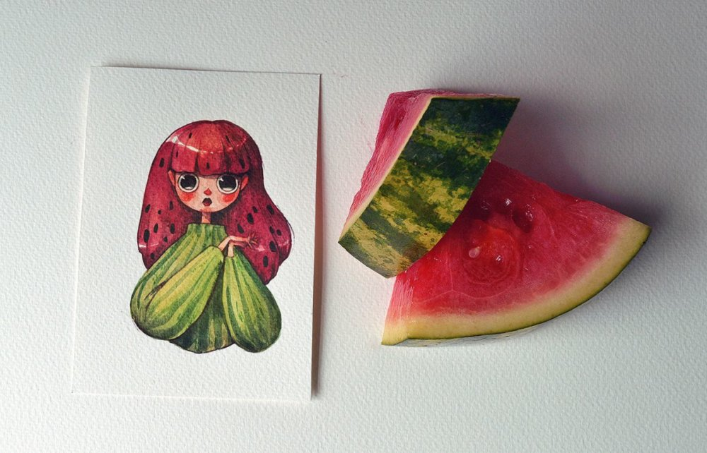 Fruits And Vegetables Turned Into Gorgeous Characters By Marija Tiurina 5