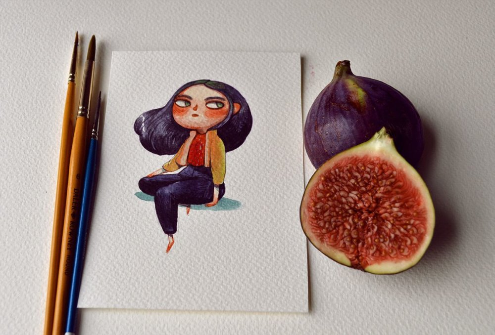 Fruits And Vegetables Turned Into Gorgeous Characters By Marija Tiurina 6
