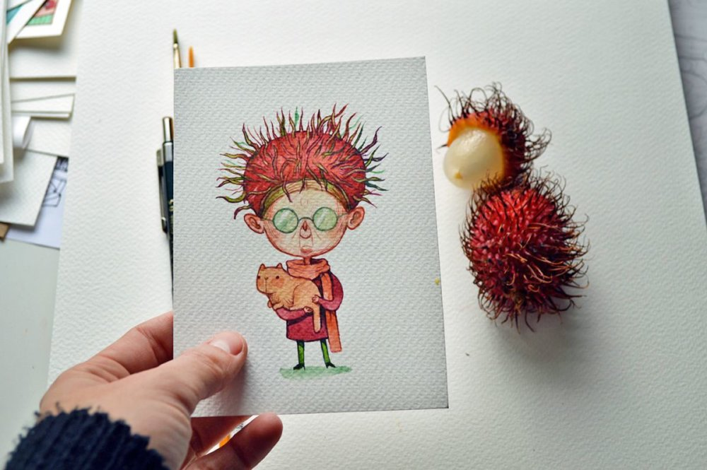 Fruits And Vegetables Turned Into Gorgeous Characters By Marija Tiurina 7