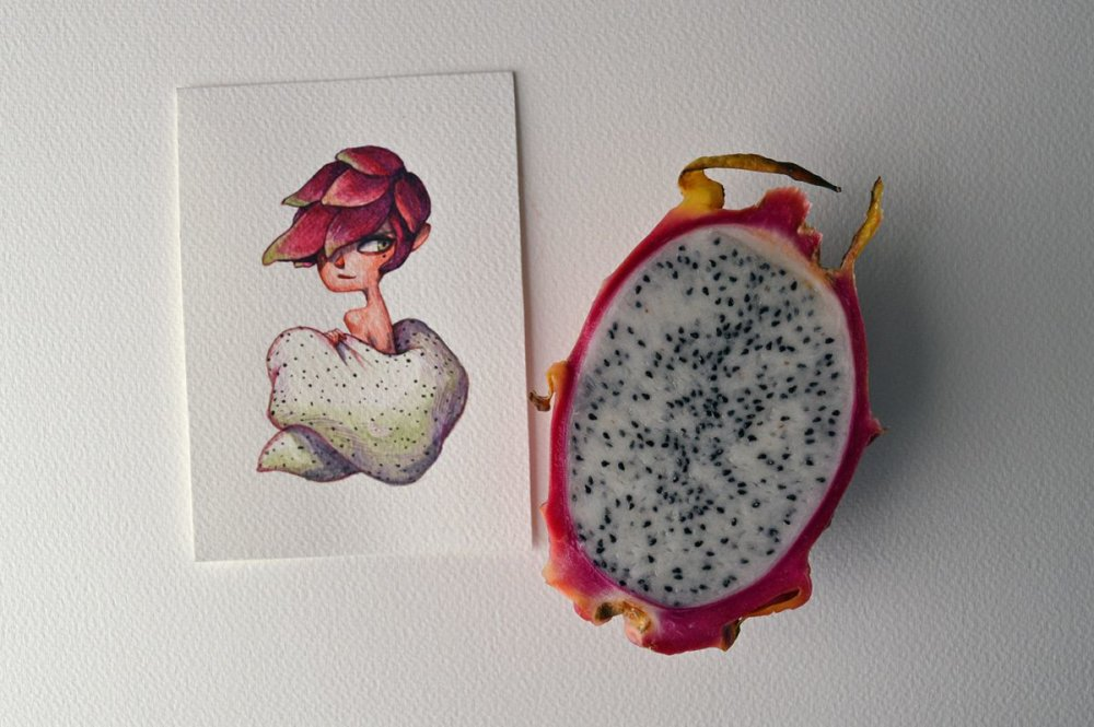 Fruits And Vegetables Turned Into Gorgeous Characters By Marija Tiurina 8