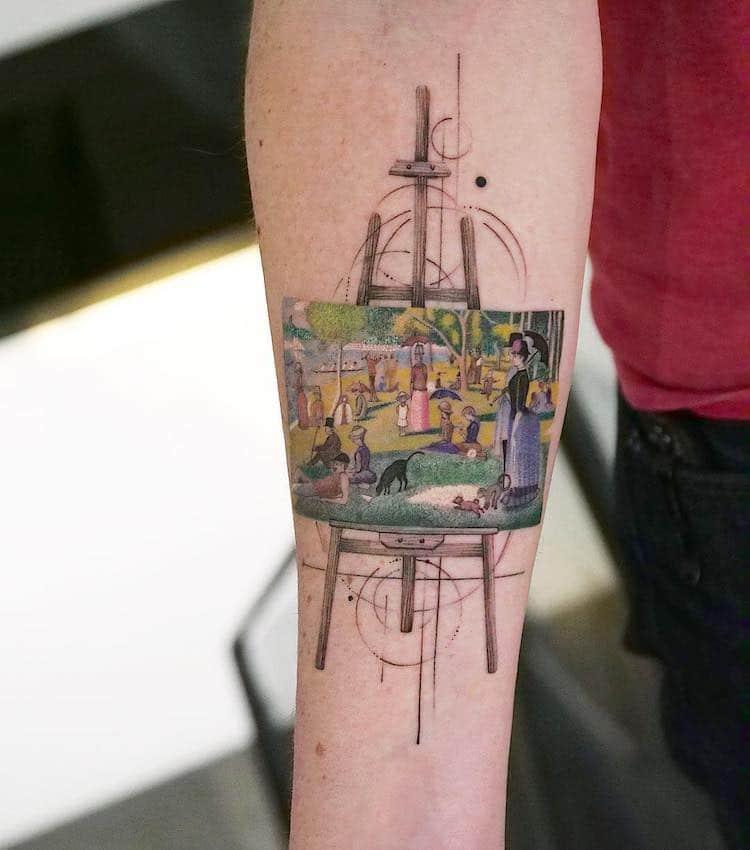 Great Painters Masterpieces Turned Into Amazing Tattoos By Eva Karabudak 1