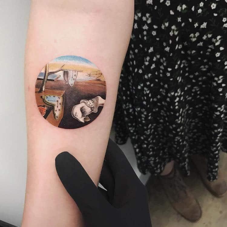Great Painters Masterpieces Turned Into Amazing Tattoos By Eva Karabudak 4