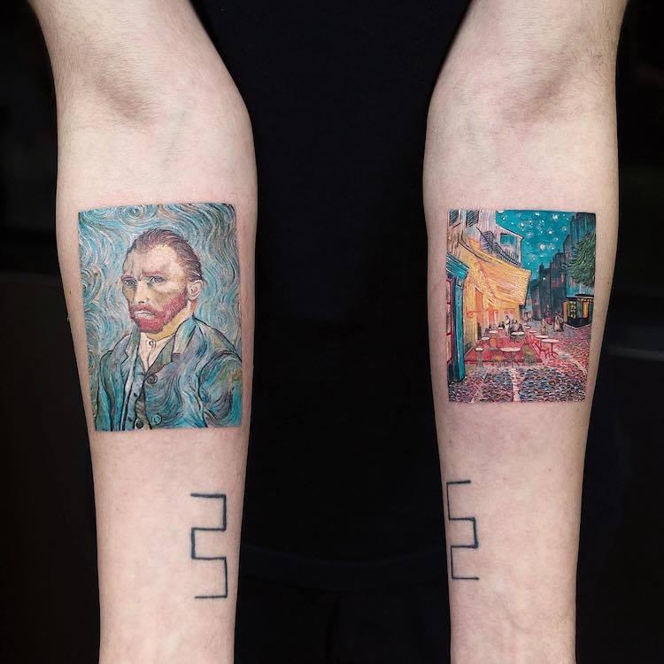 Great Painters Masterpieces Turned Into Amazing Tattoos By Eva Karabudak 8