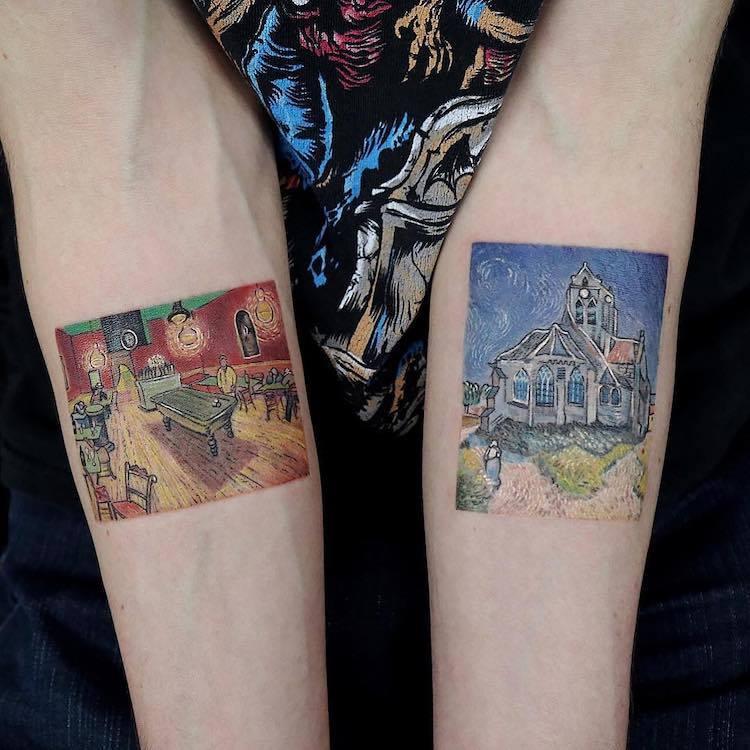 Great Painters Masterpieces Turned Into Amazing Tattoos By Eva Karabudak 9