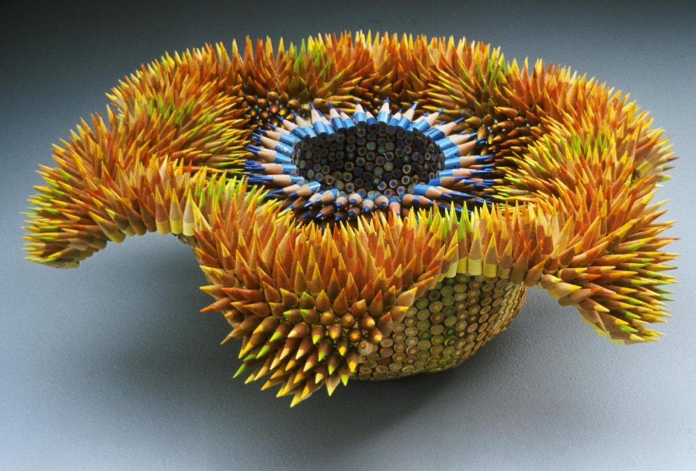 Kinesthetic Sculptures Made Out Of Colored Pencils By Jennifer Maestre 2