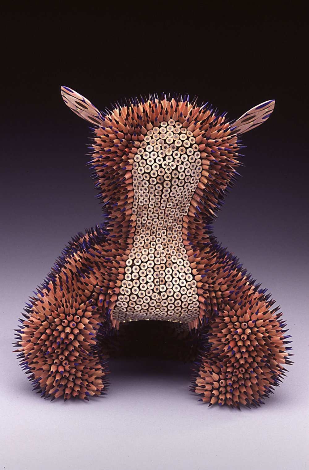 Kinesthetic Sculptures Made Out Of Colored Pencils By Jennifer Maestre 3