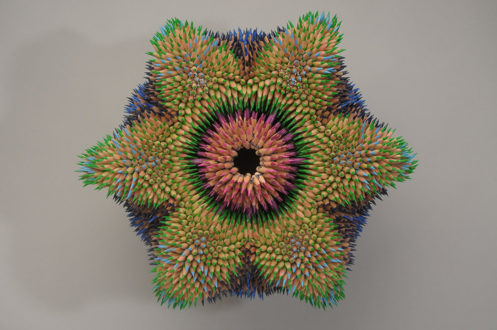Kinesthetic Sculptures Made Out Of Colored Pencils By Jennifer Maestre 8